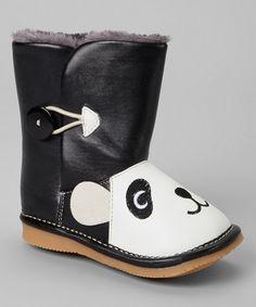 Black Panda Squeaker Boot by Squeaker Sneakers