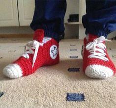 How to Make Crochet Converse Slippers - Crochet - Handimania