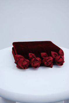red velvet rosette purse