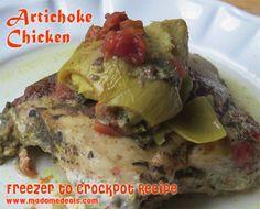 Crock Pot Freezer Meals: Chicken and Artichoke Recipe http://madamedeals.com/crock-pot-freezer-meals-chicken-artichoke-recipe/ #recipes #crockpotrecipes #inspireothers