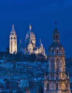 Sacre Coeur Blue Hour, Montmartre ~ Postcard from Paris