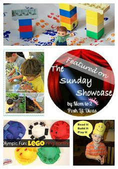 Lego crafts, games, activities & more featured on the Sunday Showcase. How do you take your child's lego fun beyond building?