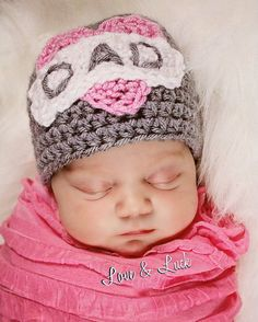 DAD heart Tattoo Hat Beanie Crochet for Baby by LoveandLuckCrochet, $22.00** So cute!!! So freaking excited!!! Can't wait to meet out little Hannah Bear!