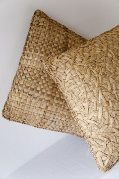 texture | woven natural fiber pillows