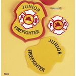 fireman badge - make your own just like this. Use foam.