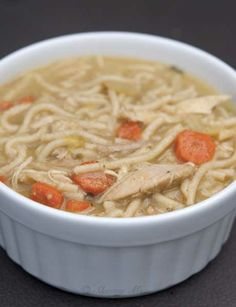 Slow cooker Chicken or Turkey Noodle Soup....It's SO good!