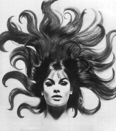 jean shrimpton. wild hair, wavy hair, david bailey, jean shrimpton, jeanshrimpton, supermodel, 60s hair, fashion photography, octopus