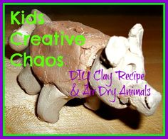 How to Make Clay: Air Dry Clay and Homemade Clay Recipe Home School Art Project
