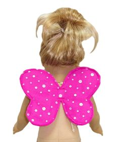 For a quick Halloween costume idea, make these cute Fairy Wings and add them to a pretty dress your doll already owns and 'Hey Presto', you have a fabulous Fairy Costume for your 18 inch doll!