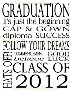 Graduation: printable 2012 card