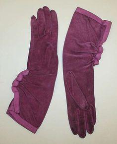 Hermes suede gloves 1930's