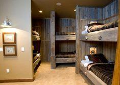 cabin, idea, bunk beds, bed designs, bunk rooms