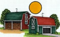 Country Style Shed and Yard Barn Plans