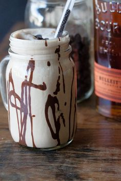 Bourbon Chocolate Milkshakes