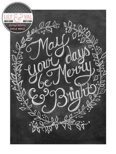Chalkboard Christmas Card