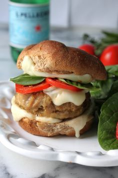 Sunday Suppers: Chicken Caprese Burgers - Baker by Nature