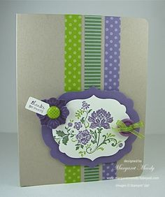 Love the use of color #stampin up