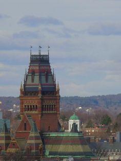 Harvard Sky View: Memorial Hall, Cambridge, MA. DiscoverHarvard.com.