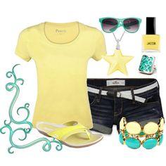 Yellow and Aqua :)