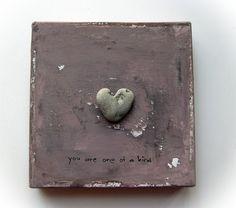 unique Valentine's Day Gift for Him  heart by MedBeachStones