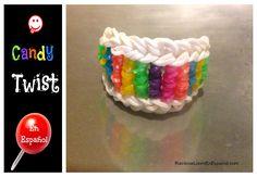 Como Hacer una Pulsera Rainbow Loom - Candy Twist