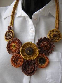 CROCHET+NECKLACE+by+Suzann61+on+Etsy