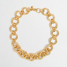 Factory gold-plated chainlink necklace