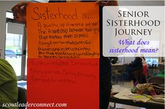 Mission: Sisterhood Senior Journey girls earn award by completing activities, crafts to reinforce the subject of the book