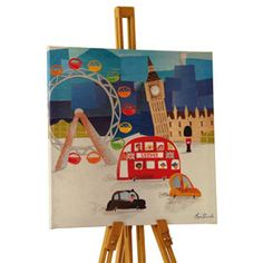 London Town Wall Canvas