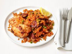 Chicken and Chorizo Rice Recipe : Food Network Kitchen : Food Network