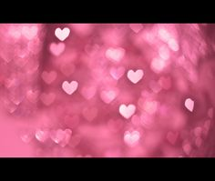 some bokeh hearts