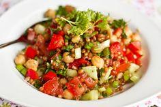Wheatberry & bean salad