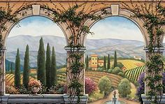 Tuscan Villa Photo Mural Each