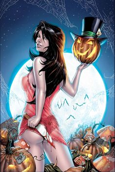 #Halloween #pinup #pinupart #pinupgirl  #witch #pinups #witches #Pumpkin