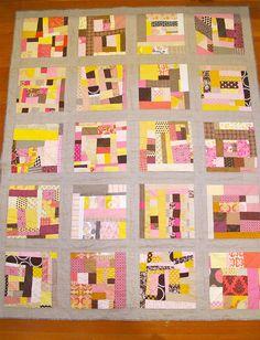 gorgeous modern improv patchwork \\