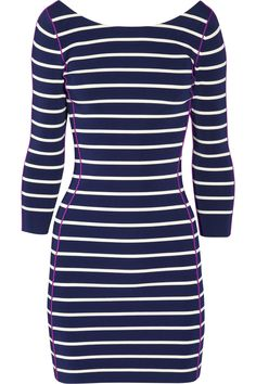 Sonia by Sonia Rykiel striped ribbed kitted stretch dress