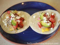 Backyard Farming: Eat the Seasons Friday- Tacos Sin Carne