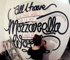 The Buffalo Dining Club Custom Typography Installation by Georgia Hill, via Behance