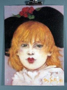 "Ramon Santiago ""Untitled"" Gallery Stamp Fine Art Print"