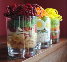 These are beautiful!  Individual Stacked Salads from The Whole Gang.