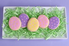 Polka-Dot Easter Egg Cookies