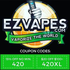 Redeem at EZVAPES.CO