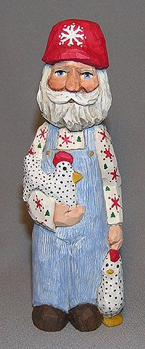 Farmer Santa with Chickens - $49.00