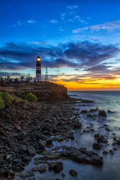 Lighthouse & Sunset | Mauritius (http://www.facebook.com/BeautyOfMauritius)
