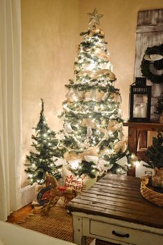 Rustic white Christm
