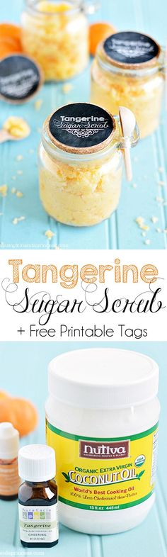 Tropical Sugar Scrub Recipe - smells amazing and is great for nourishing dry skin.