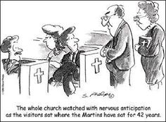 So true! This is pretty funny, but on the serious side.... If only people would come to church to hear the gospel preached, instead of being pew warmers!