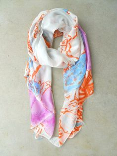 Abstract Print Scarf by Evelyn K