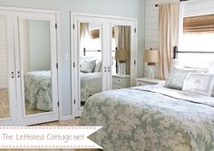 "Like the white horizontal planking on the wall - might try that on our short ""under the eaves"" walls in our master bedroom to give it a cottagey feel.  Master Bedroom 