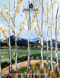 Autumn Mountain View Painting - Jackie Schon, The Paint Bar